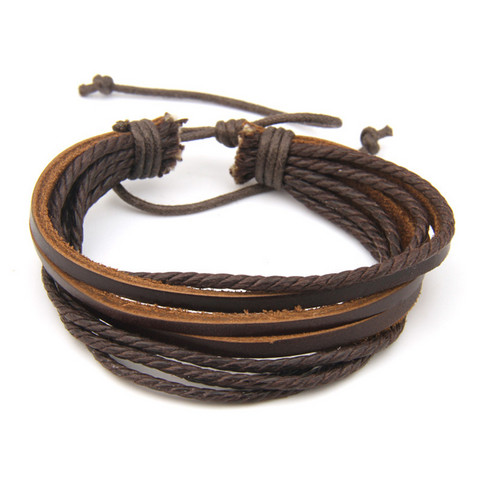 Nahkainen rannekoru, Brown Multilayer Bracelet