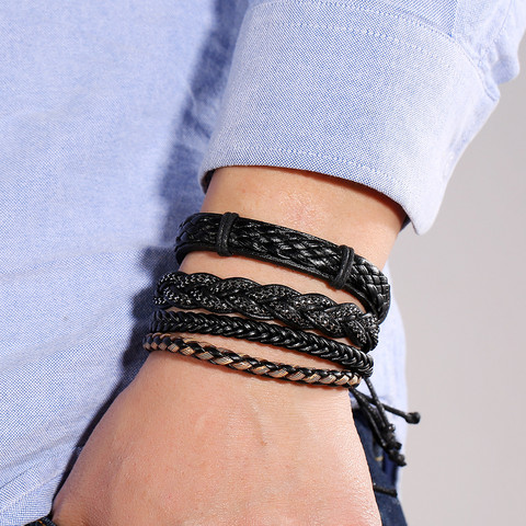 Rannekorusetti, Set of Four Black Bracelets