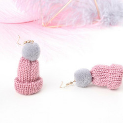 Korvakorut, Light Purple Beanie Earrings -liilat pipokorvakorut