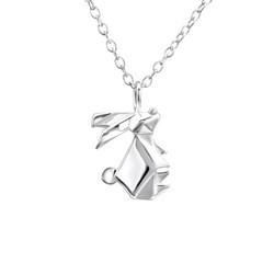 Hopeinen kaulakoru, Origami Rabbit -origami pupu