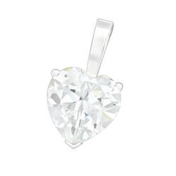 Hopeinen riipus, Luxorious Heart Pendant CZ -Ylellinen CZ sydänriipus