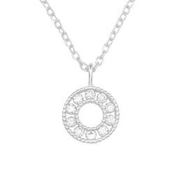 Hopeinen kaulakoru, High Quality Circle Necklace