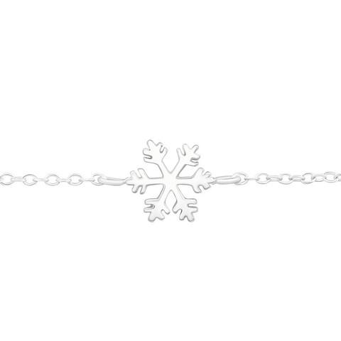 Hopeinen rannekoru, Snowflake -lumihiutale