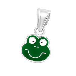 Lasten hopeinen riipus, Green Frog -vihreä sammakko