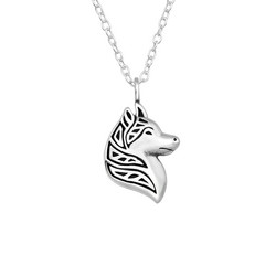 Hopeinen kaulakoru, Silver Wolf -hopeinen sudenpää