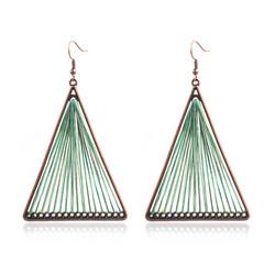 Korvakorut, Retro Bohemian Earrings in Green