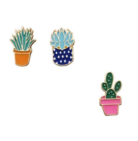 Pinssi, Crazy Plant Lady -kaktus/kasvi pinssi