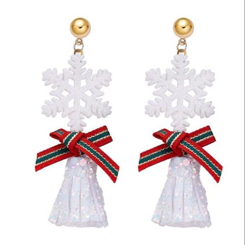 Joulukorvakorut,  Glitter Snowflake -kimaltava lumihiutale