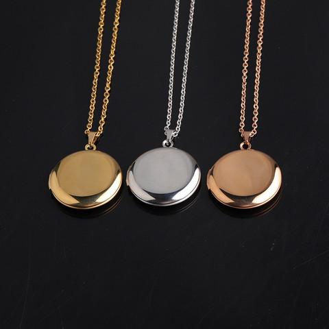 Kirurginteräksinen kaulakoru, Pyöreä medaljonki