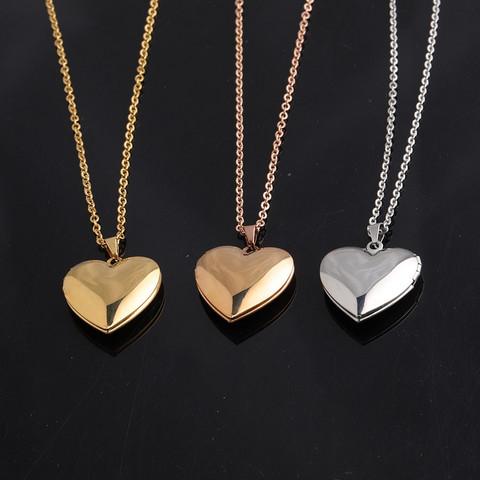 Kirurginteräksinen kaulakoru, Sydän medaljonki