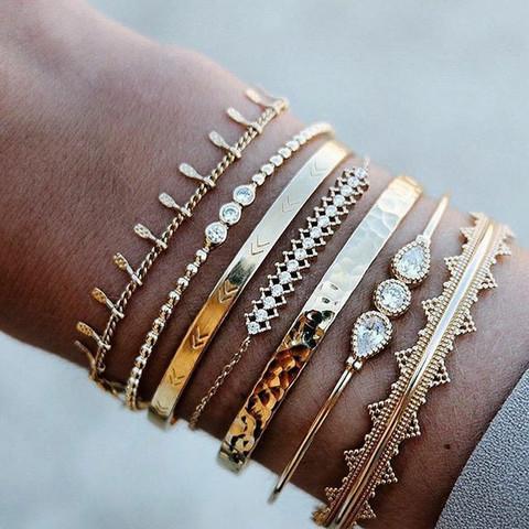 Rannekorusetti, FRENCH RIVIERA|Gold Tahiti Boho Bracelets