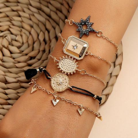 Rannekorusetti, FRENCH RIVIERA| Black & Gold Explorer Bracelets