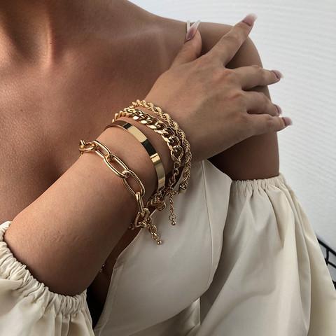 Rannekorusetti, FRENCH RIVIERA|Chunky Gold Bracelets