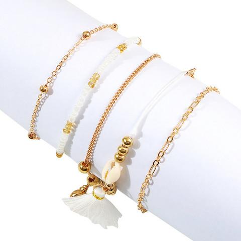 Rannekorusetti, FRENCH RIVIERA Delicate Gold & White Bracelets