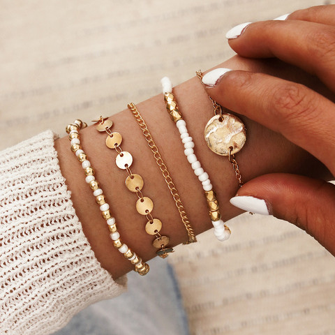 Rannekorusetti, FRENCH RIVIERA Minimalistic Gold Bracelets