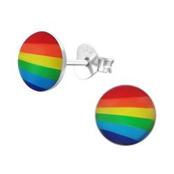 Hopeiset korvanapit, Round Pride Earstuds