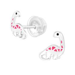 Hopeiset korvanapit, Pink Dinosaurus -hopeiset dinokorvikset