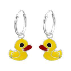 Lasten hopeakorvakorut, Yellow Duck -keltainen ankka
