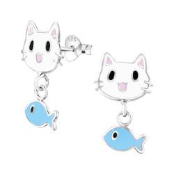 Lasten hopeakorvakorut, Cat and Fish -kissa ja kala