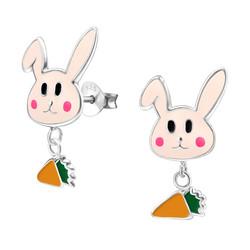 Lasten hopeakorvakorut, Bunny and Carrot -pupu ja porkkana