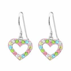 Lasten hopeakorvakorut, Glitter Heart -kimaltava sydän