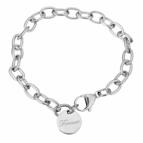 Kirurginteräsrannekoru, Forever Charm Bracelet in Silver