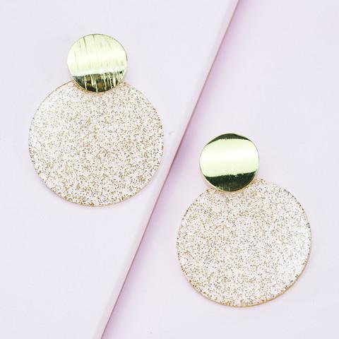 Korvakorut, FRENCH RIVIERA|Gold Glitter Earrings