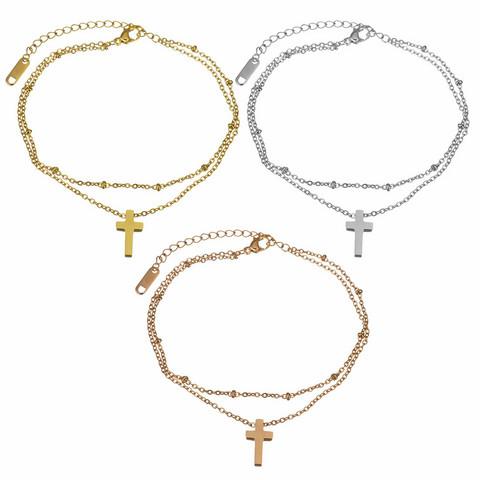 Kirurginteräsrannekoru, Cross Charm Bracelet -ristirannekoru