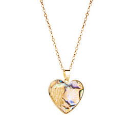 Kaulakoru, Gold Seashell Heart -kullanvärinen sydän