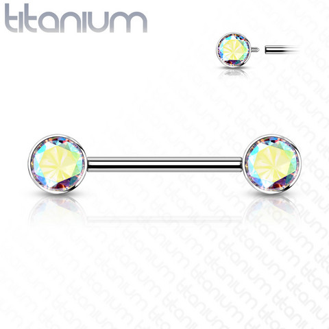 Nännikoru, Implant Grade Titanium Nipple Barbells in AB Clear
