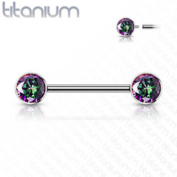 Nännikoru, Implant Grade Titanium Nipple Barbells in Blue AB