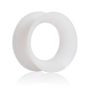 Tunneli 10mm, Thin Silicone in White
