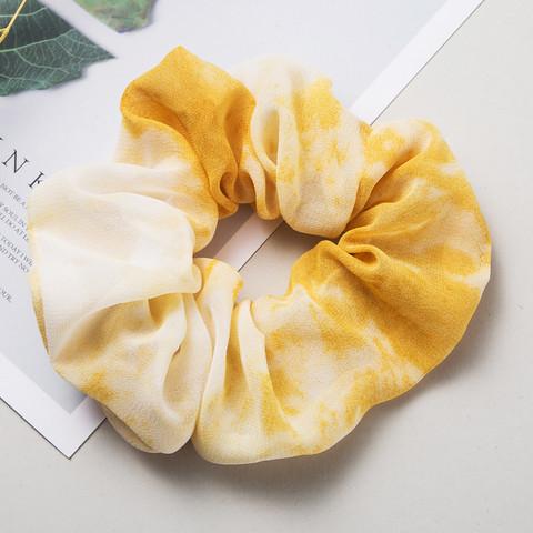 Donitsi/Scrunchie|SUGAR SUGAR, Ombre Yellow -keltainen scrunchie