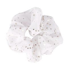 Donitsi/Scrunchie|SUGAR SUGAR, Silver Dots in White