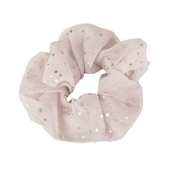 Donitsi/Scrunchie|SUGAR SUGAR, Silver Dots in Beige