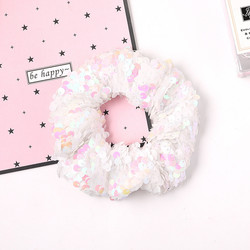 Donitsi/Scrunchie|SUGAR SUGAR, Sequins in White