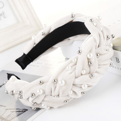 Hiuspanta|SUGAR SUGAR, White Statement Suede-hairband
