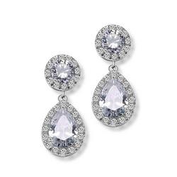 Juhlakorvakorut, ROMANCE/Luxurious Teardrop Earrings with CZ