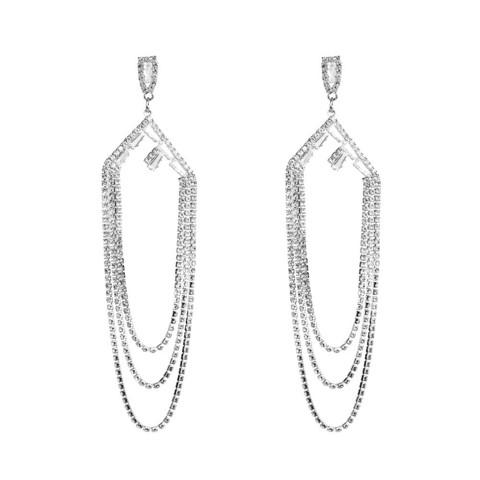 Strassikorvakorut, Gorgeous Long Strass Earrings