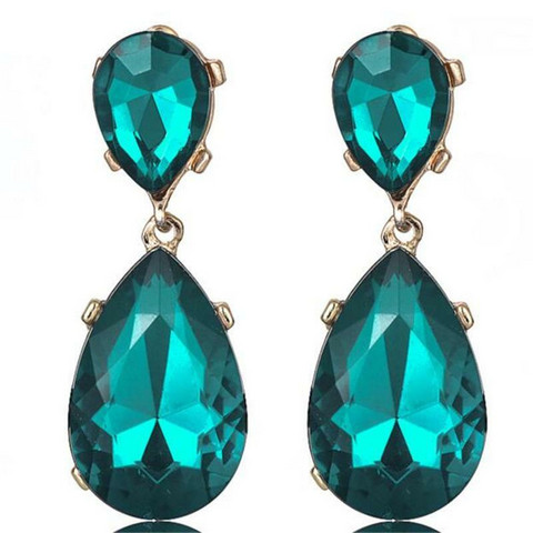 Korvakorut, FRENCH RIVIERA|Large Teardrop Earrings in Dark Turqoise