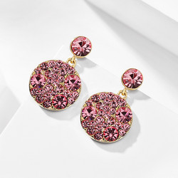 Korvakorut, Simple Round Earrings in Pink -vaaleanpunaiset korvakorut