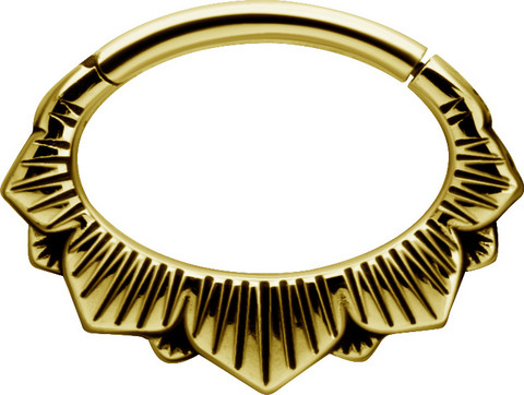Lävistysrengas, Boho Style Hinged Septum and Daith Clicker in Gold