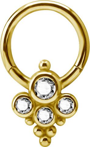 Lävistysrengas, Large Titanium Clicker 24K Gold PVD