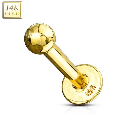 Labret, 14K Gold Labret  -kultainen labretkoru