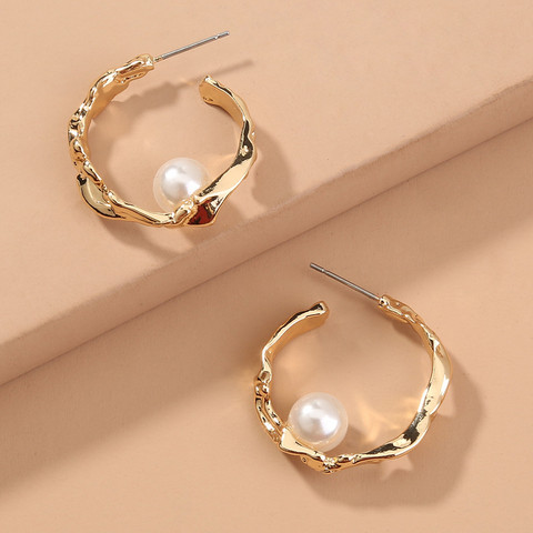 Korvarenkaat, FRENCH RIVIERA| Classic Chunky Pearl Hoops