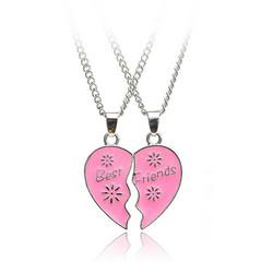 Best Friends-koru, Pink Heart with Flowers -vaaleanpunainen sydän