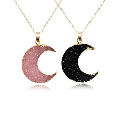 Kaulakoru, Celestial Moon in Black or Pink