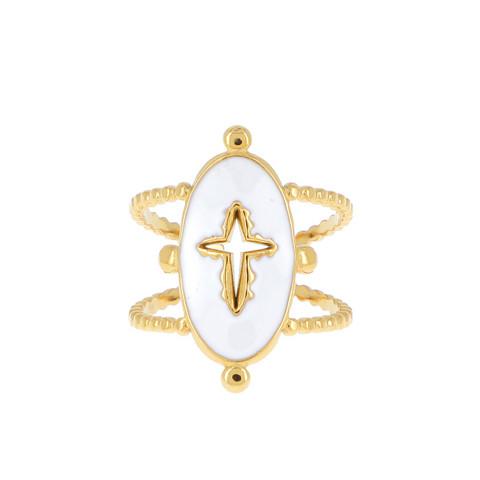 Sormus, BOHM PARIS Bague Gabrielle dorée blanc -ristisormus