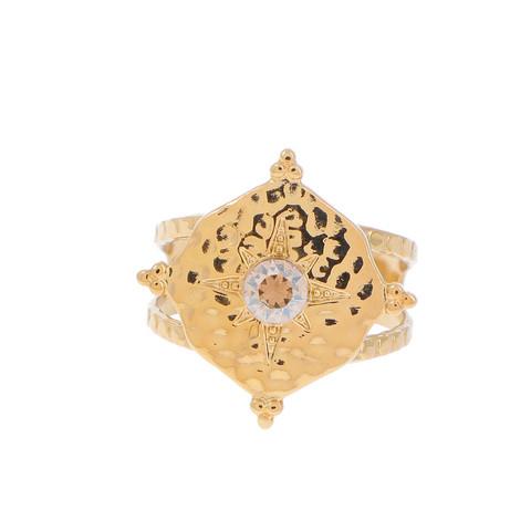 Sormus, BOHM PARIS Bague Loulita avec cristal dorée