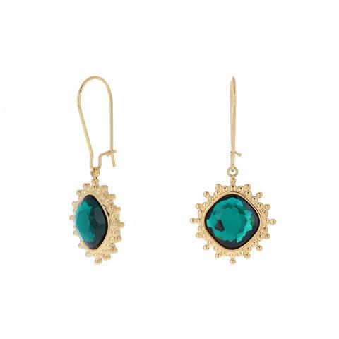 Korvakorut, BOHM PARIS|Boucles Charlotte avec cristal emerald